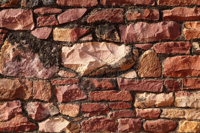 Backsteinmauerbeschaffenheit innerhalb Komplexes Fatehpur Sikri stockfoto