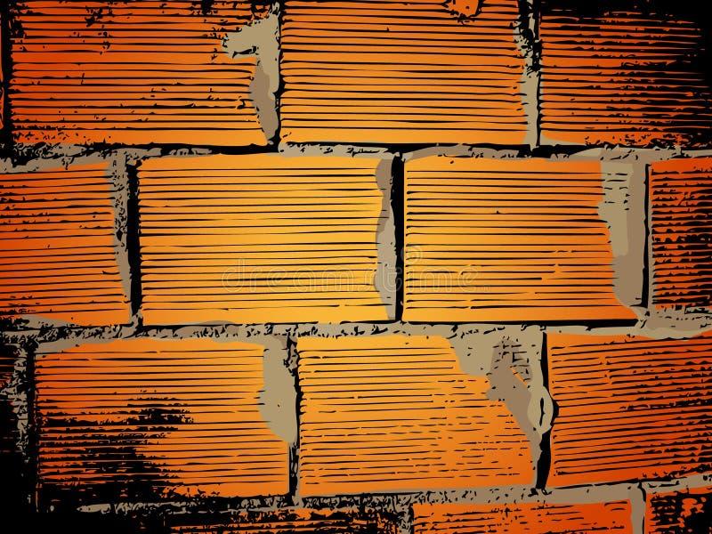 Backsteinmauerhintergrund lizenzfreie abbildung