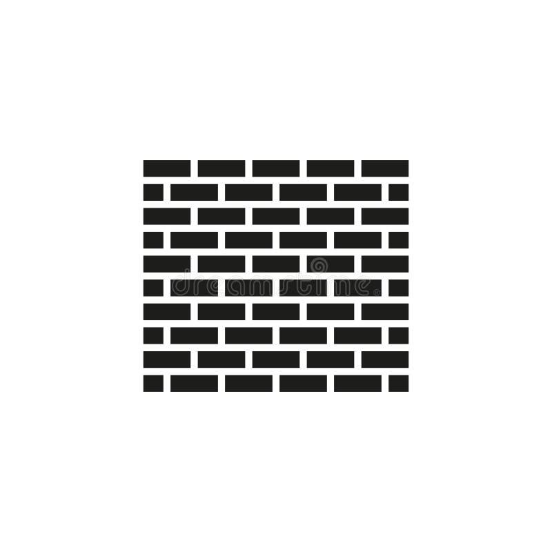 Backsteinmauerikone Gebäude und Bau, Entwicklung, Sperre, Seitensymbol Flaches Design Vorrat - Vektor lizenzfreie abbildung