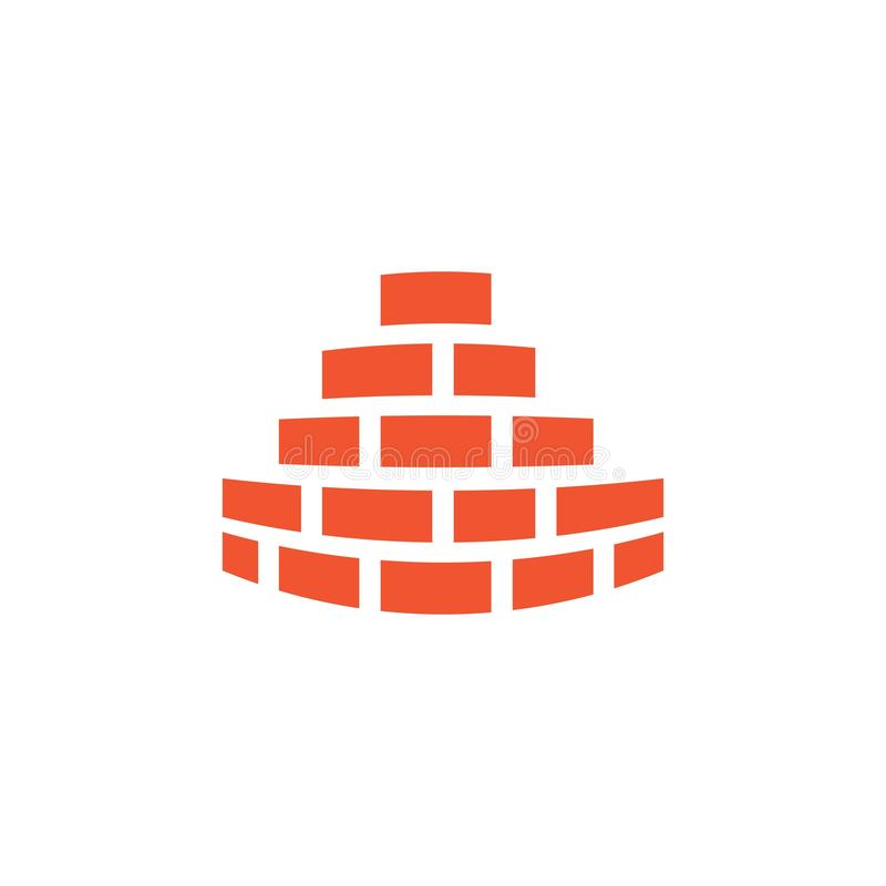 Backsteinmauerlogovektor lizenzfreie abbildung
