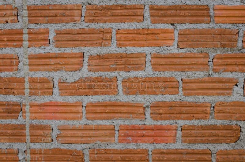 Backsteinmauermuster mit Mörser stockfoto