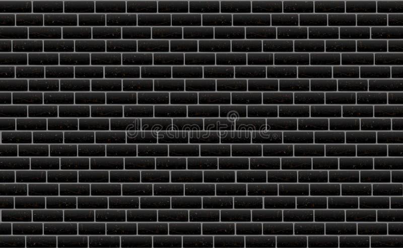 Backsteinmauerschwarzmuster-Hintergrundoberfläche, Illustration Steinblockstruktur, städtische Entwurfstapete dunkel lizenzfreie abbildung