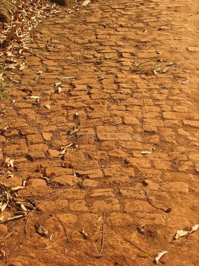 Backsteinweg, Malawi stockfotos
