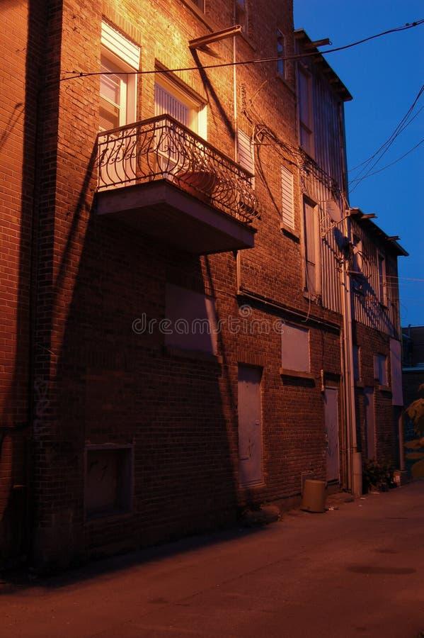 backstreet μπαλκόνι στοκ φωτογραφίες με δικαίωμα ελεύθερης χρήσης
