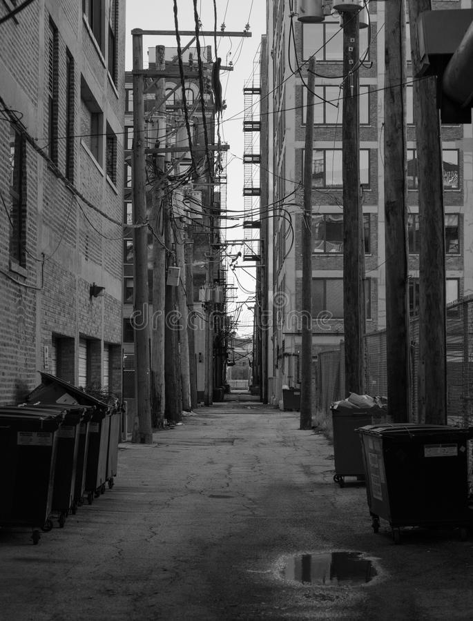 Backstreet στο Σικάγο κεντρικός στοκ εικόνα με δικαίωμα ελεύθερης χρήσης