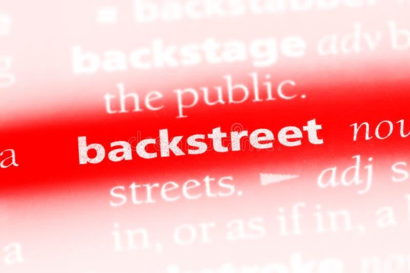 backstreet imagen de archivo libre de regalías