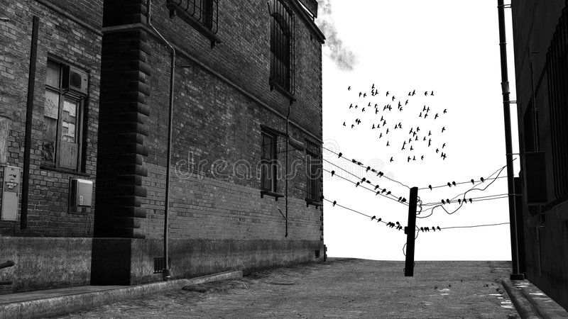 Backstreet stock afbeelding