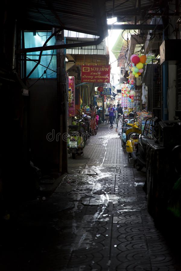 Backstreet of Bangkok stock images