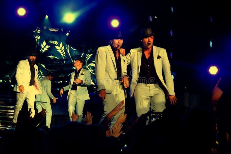 Backstreet Boys In Concert arkivbild