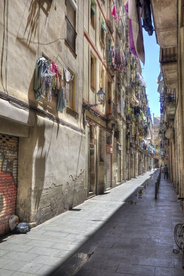 Backstreet en Barcelona, España fotos de archivo libres de regalías