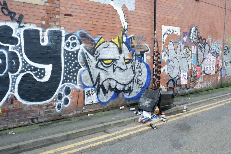 Backstreet graffiti Miastowa Ścienna sztuka zdjęcia stock