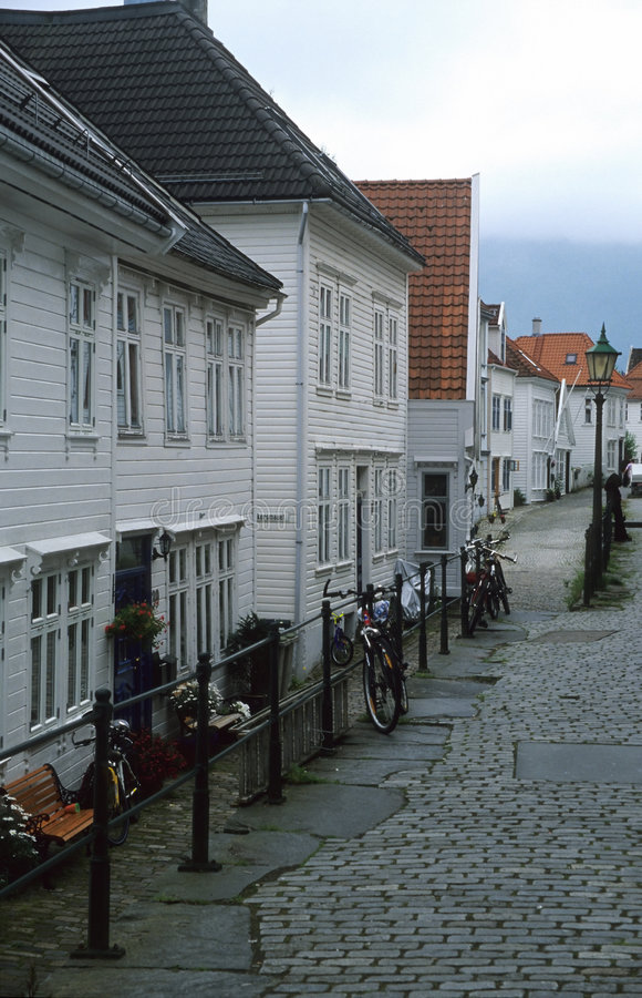 Free Backstreet In Bergen, Norway Royalty Free Stock Images - 408469