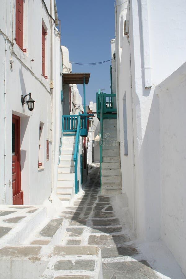 backstreet mykonos obraz royalty free