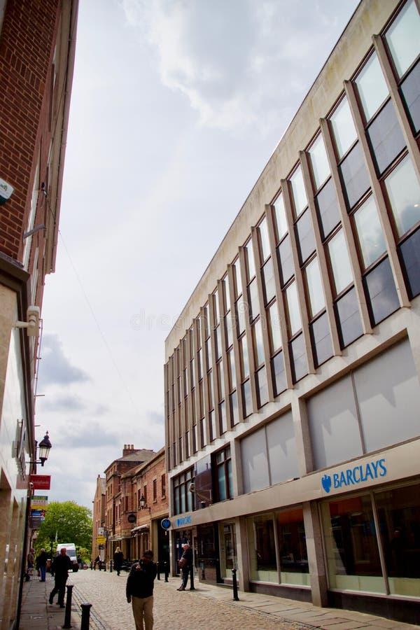 Backstreet in Preston fotografia stock libera da diritti