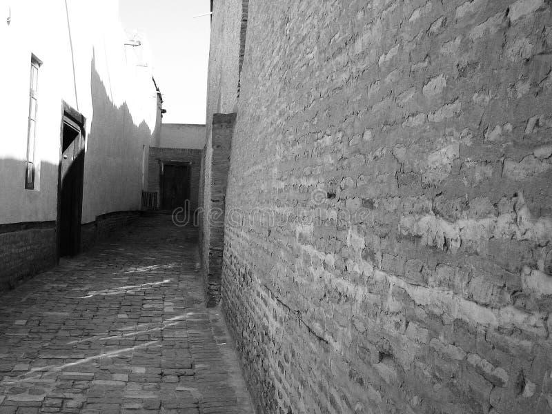 Backstreet w Bukhara fotografia stock