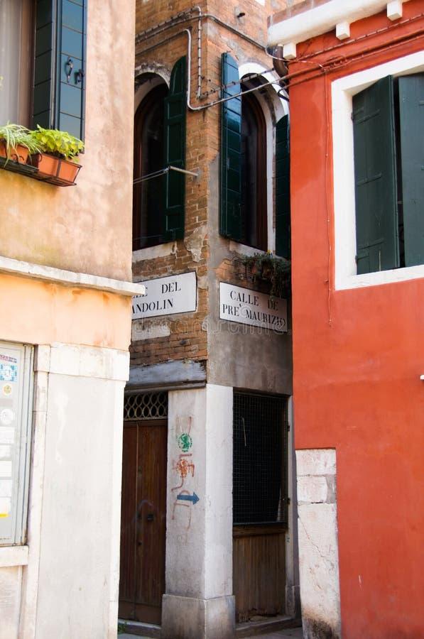 Backstreet w Wenecja, Włochy obrazy stock
