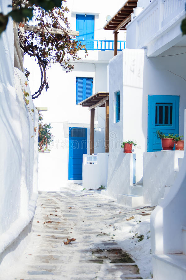 Backstreets του νησιού Ελλάδα της Μυκόνου στοκ φωτογραφία με δικαίωμα ελεύθερης χρήσης