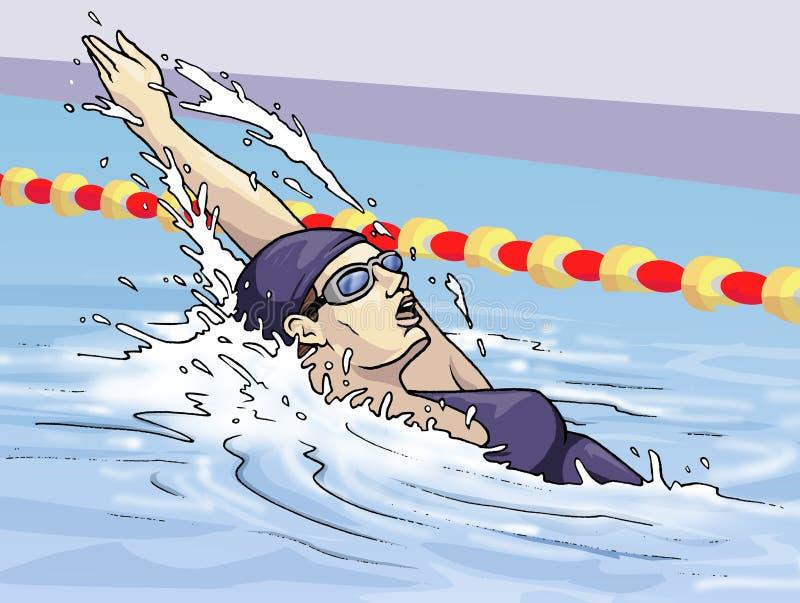 Backstroke royalty free illustration