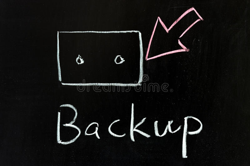Download Backup stock photo. Image of chalkboard, medium, electronics - 23252154