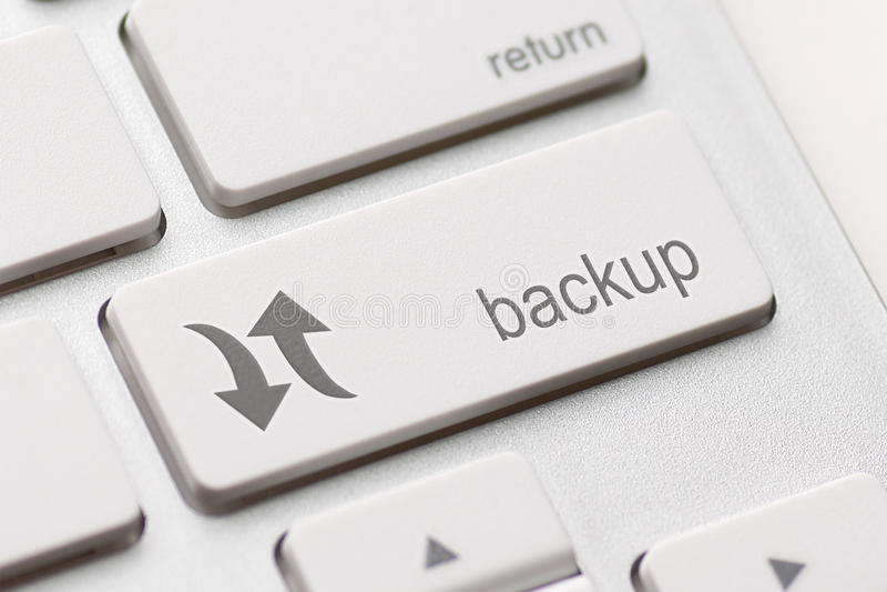 Backup Computer Key stock image