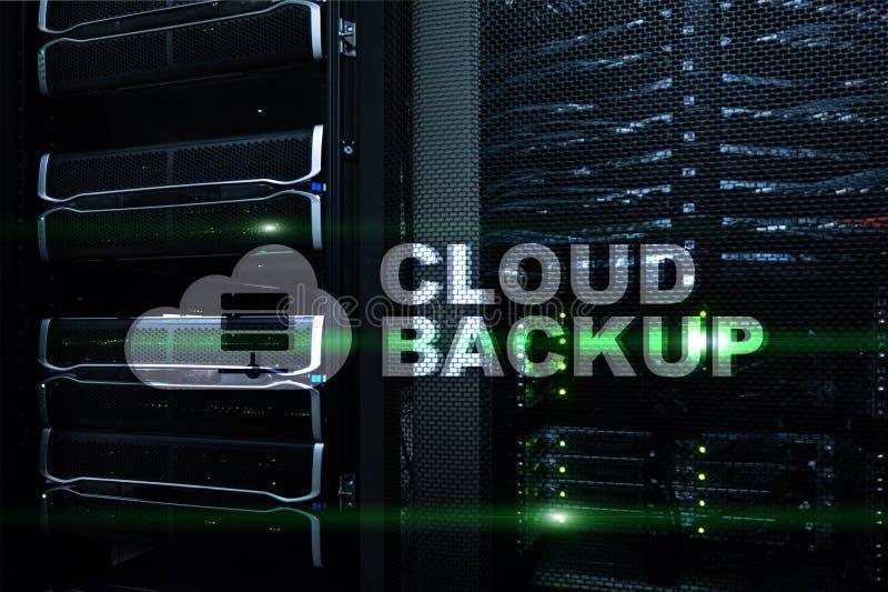 Backup da nuvem Prevenção de perda dos dados do servidor Segurança do Cyber ilustração stock