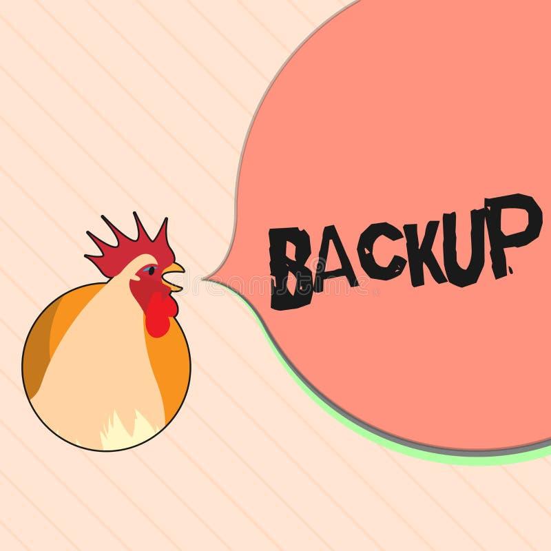 Backup do texto da escrita da palavra O conceito do negócio para a cópia do arquivo ou os outros dados do artigo feitos caso que  ilustração stock