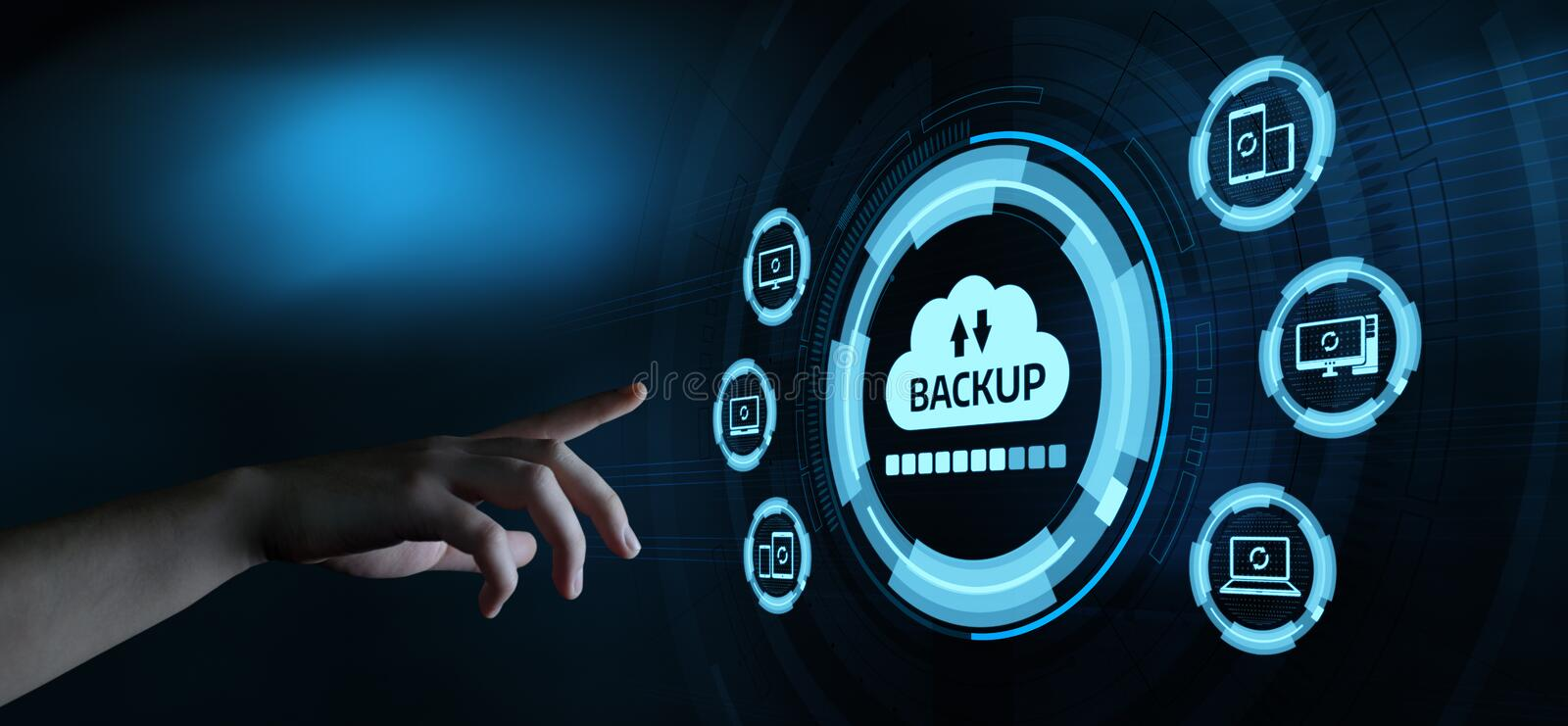 Backup Storage Data Internet Technology Business concept.  stock photography
