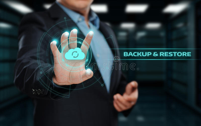 Backup Storage Data Internet Technology Business concept royalty free stock image