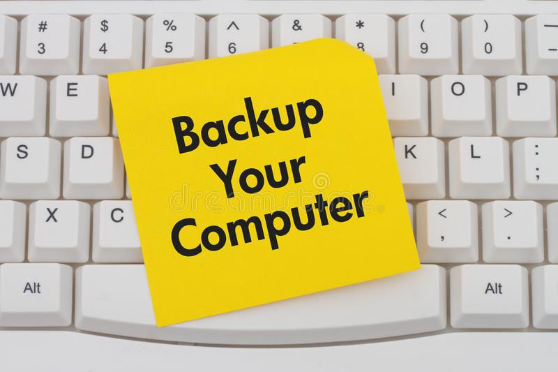Backup Your Computer stock photography