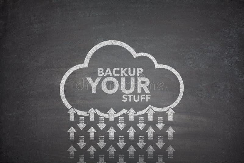Backup your stuff on Blackboard stock photos
