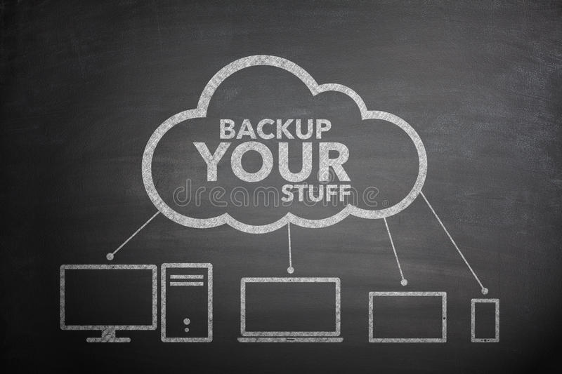 Backup your stuff concept stock image