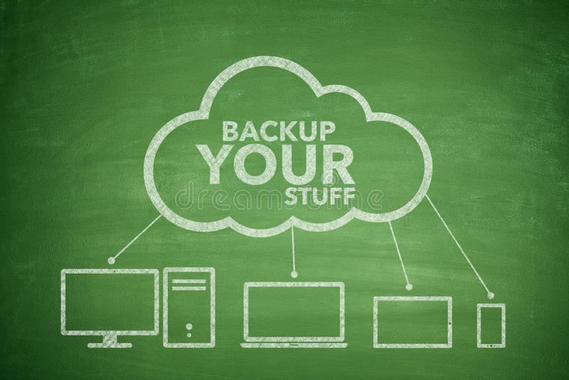 Backup your stuff concept vector illustration