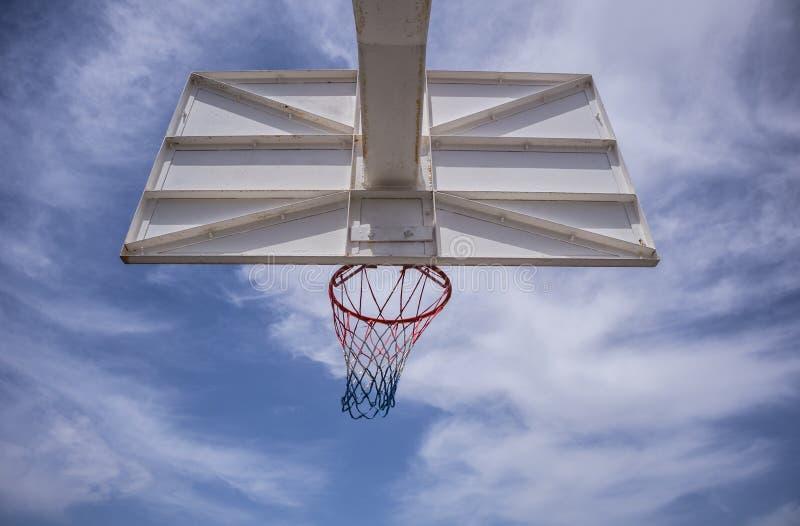 Backview обруча баскетбола стоковое фото rf