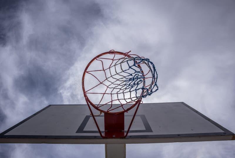 Backview обруча баскетбола стоковое фото