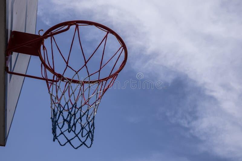 Backview del cerchio di pallacanestro immagine stock libera da diritti