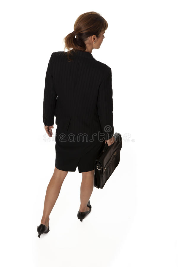 Backview do passeio da mulher de negócios fotos de stock