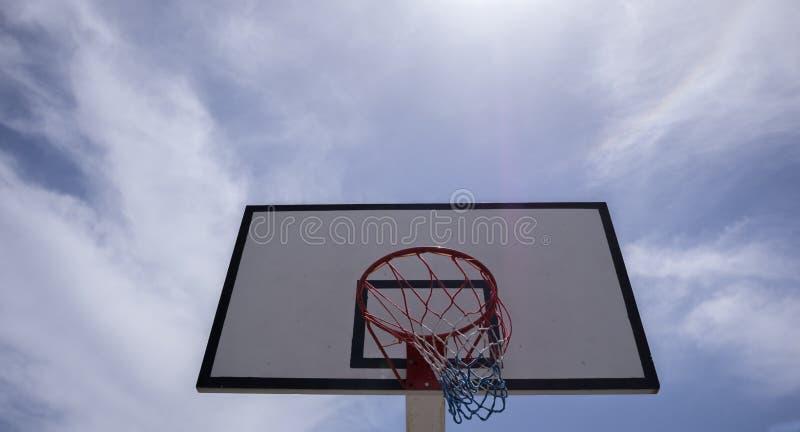 Backview för basketbeslag arkivbilder