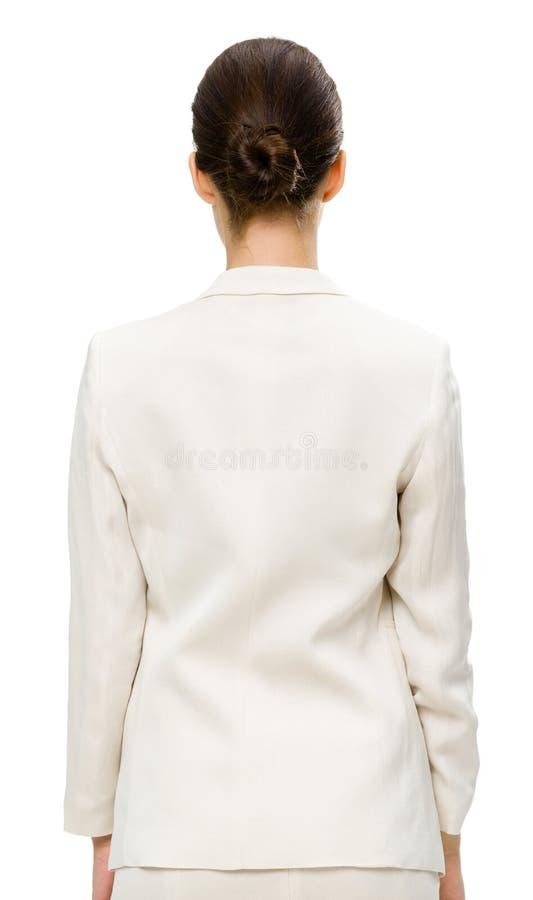 Backview van bedrijfsvrouw stock foto's