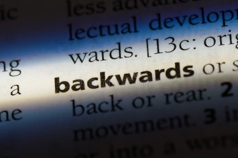 backwards foto de archivo libre de regalías