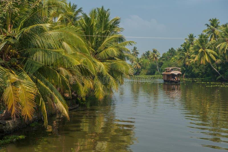 Backwaters of Kerala, India stock photography