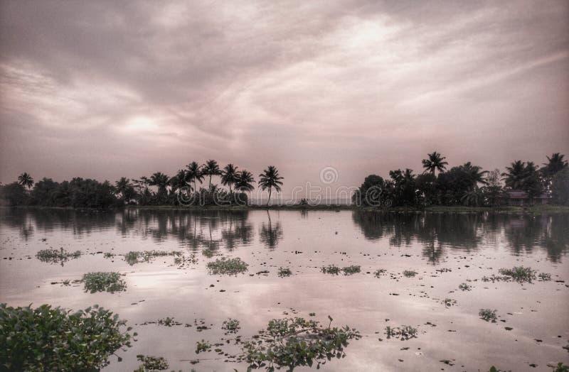 Backwaters Kerala stock image