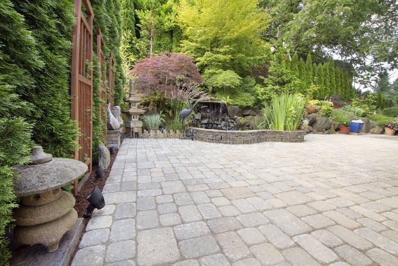 Download Backyard Asian Inspired Paver Patio Garden Stock Photo - Image: 25739086