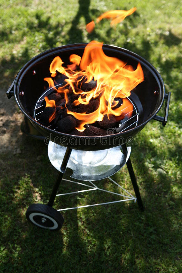 Backyard barbecue royalty free stock photo