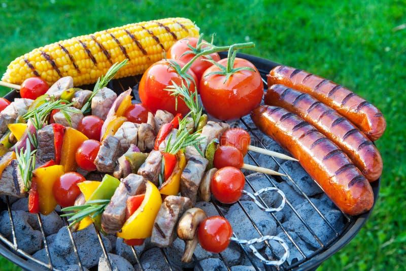 Backyard barbecue stock photo
