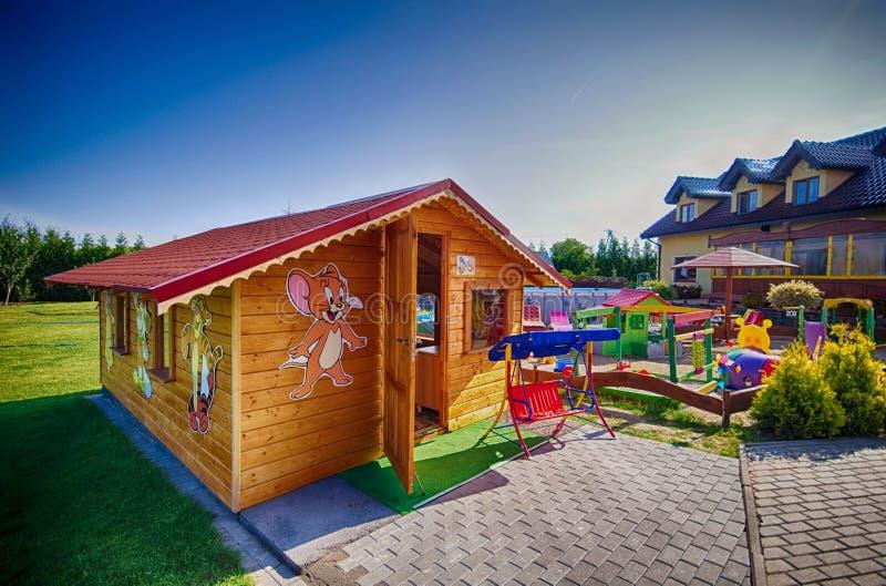 Backyard for children royalty free stock image