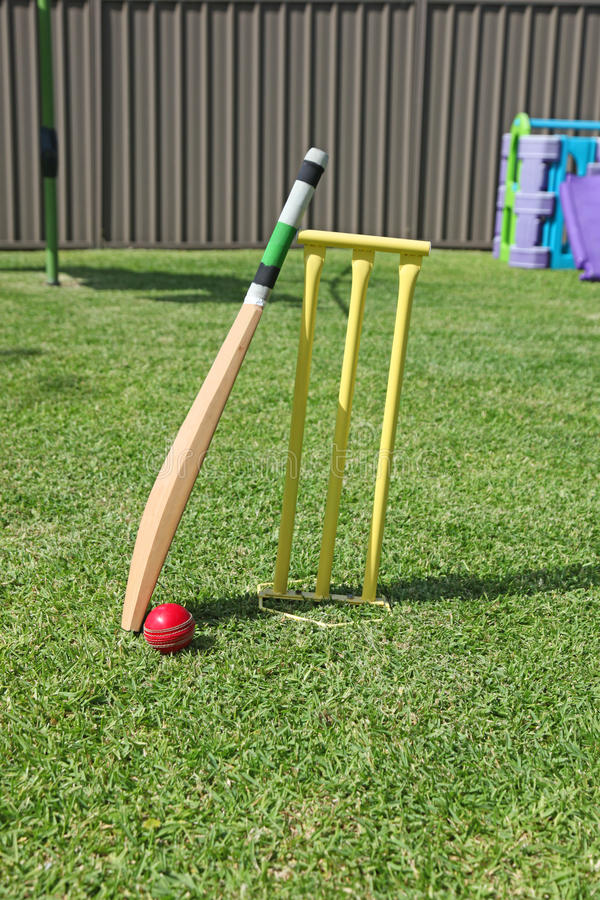 Backyard Cricket stock photo