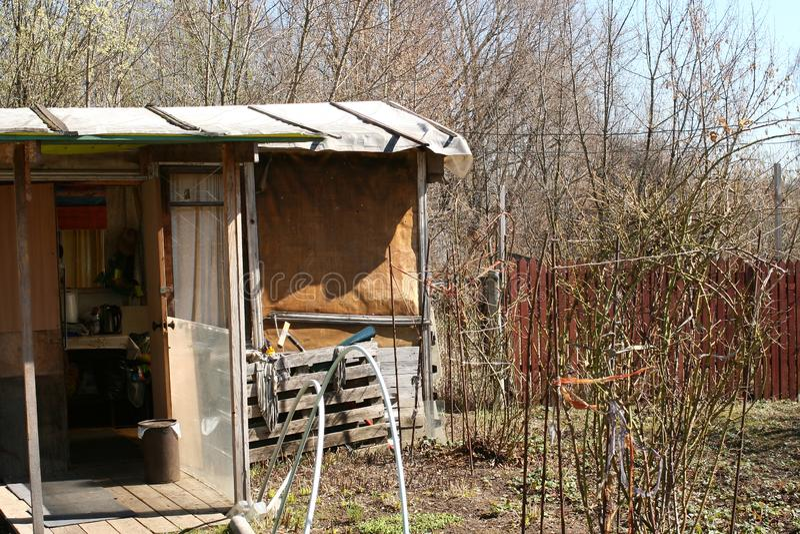 Backyard, Decayed Russian Village royalty free stock photos