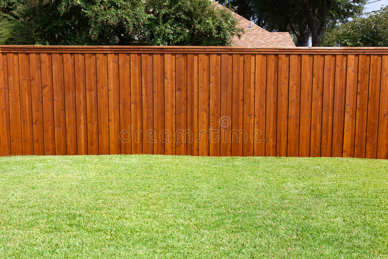 Backyard Fence stock image
