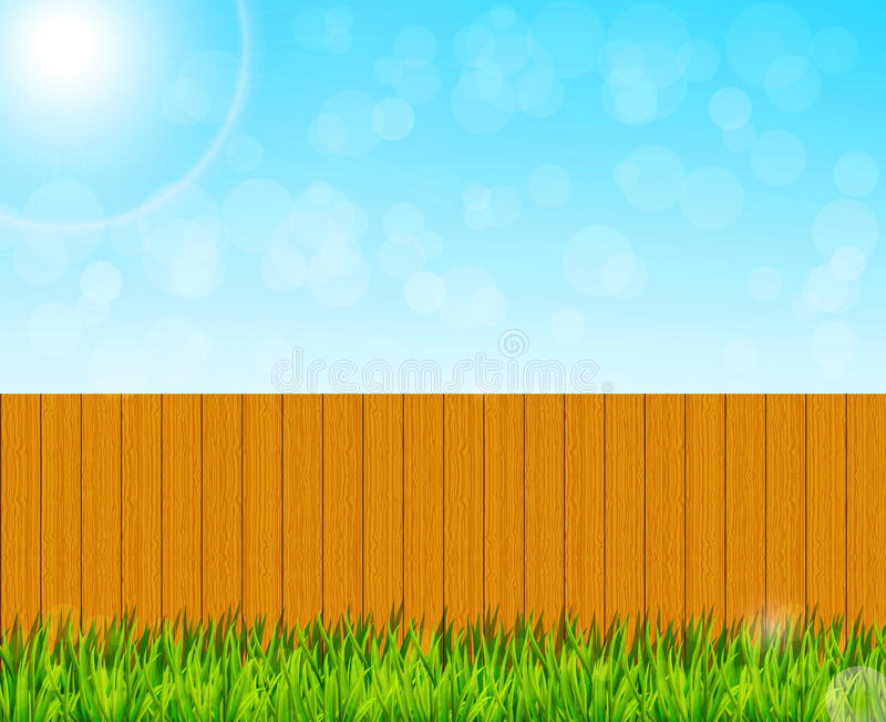Backyard garden background vector illustration