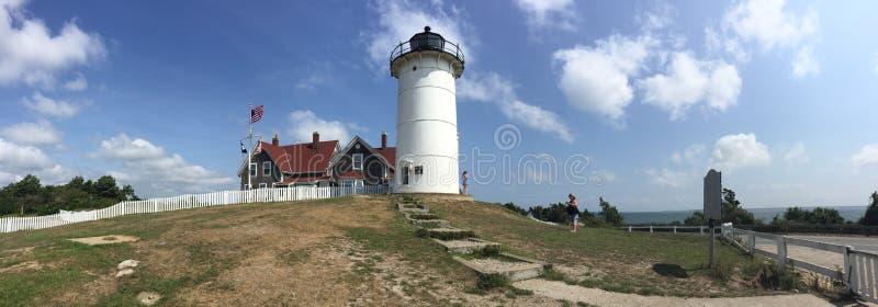 Backyard Lighthouse stock image